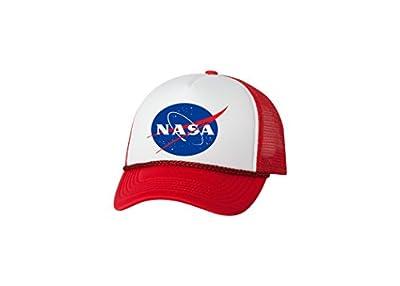 Rogue River Tactical Funny NASA Trucker Hat Baseball Cap Retro Vintage Joke Space Emblem