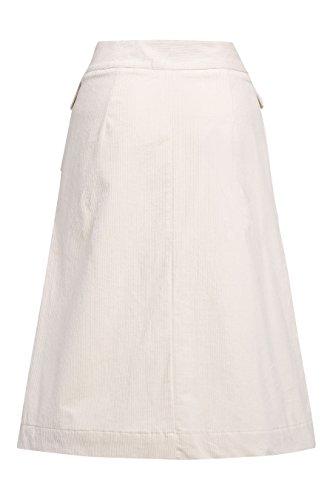 next Mujer Falda Pana Corte Regular Marfil