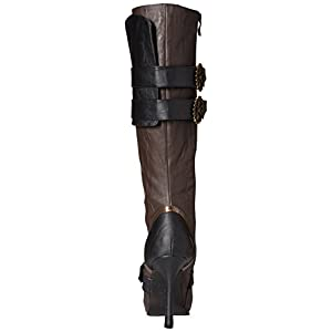 Ellie Shoes Women's 420 Quinley 4″ Knee High Steampunk Boot with Laces