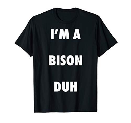 Easy Halloween Bison Costume Shirt for Men Women -