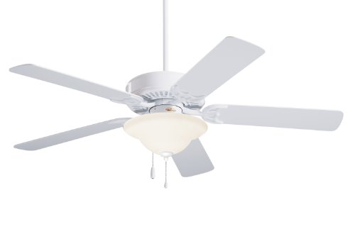 3.5' Downrod (Emerson CF705WW Northwind Indoor Ceiling Fan, 52-Inch Blade Span, Appliance White Finish and Appliance White Bleached Oak Blades)