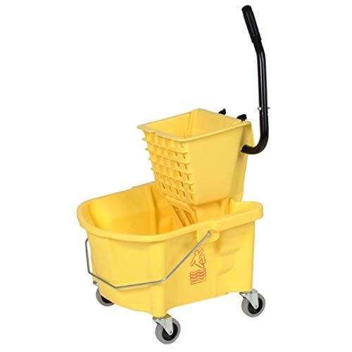 Continental 226-312YW Yellow 26 Quart Splash Guard Side-Pres