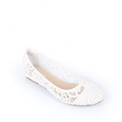 factory pas de taxe de vente classique Ideal Shoes - Ballerines en dentelle Harmonie