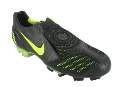 (Nike Total 90 Laser II FG Black/Green Size)