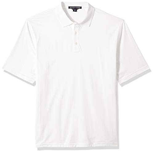 D & Jones Men's DEJN-D440 Executive Club Polo, White, S