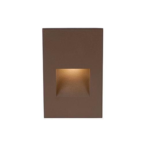 WAC Lighting WL-LED200-C-BZ LED Step Light Vertical Scoop in Bronze ()