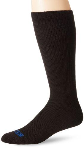 (Bates Men's Thermal Uniform Mid Calf Socks, Black, Sock Size:10-13/Shoe Size: 6-12)