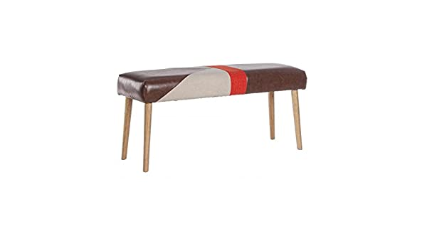 Bizzotto Detroit Banco, Densidad Relleno de Espuma Poliuretano Asiento 24 kg /m3, Madera, marrón, 34 x 104 x 57 cm: Amazon.es: Hogar