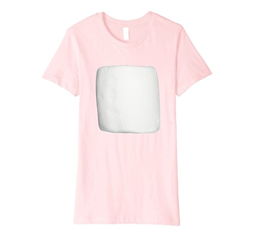 [Womens Smores Marshmallow Matching Halloween Costume Shirt Small Pink] (S'more Costume)