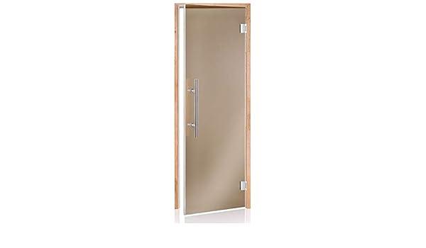 Glass House Puertas De Sauna De Luxe 60 X 190 | Color De Cristal: Bronce | Material De Montura: Aliso: Amazon.es: Hogar