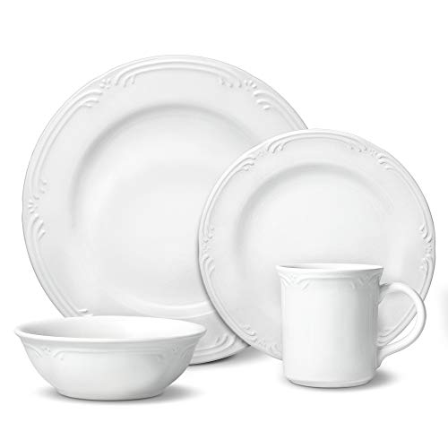 Pfaltzgraff Filigree 48 Piece Dinnerware Set, Service for 12