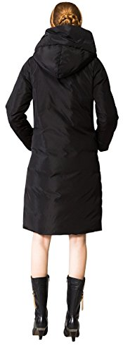 Black Orolay Women's Jacket Hood Long Thickened with Down Cf7qC