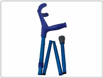 Unterarmgehstütze, blau, faltbar 1 Stück Leichtmetall Gehhilfe Krücke