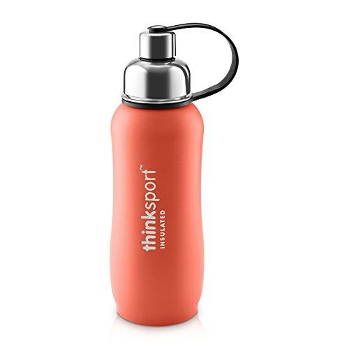 Thinksport 25-Ounce/750-Milliliter Stainless Steel Sports Bottle (Orange)