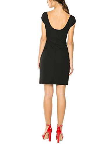 Desigual VEST_ISLA REP - Vestido de Mujer Negro (Negro)