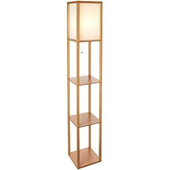 Amazon Com Adesso 3117 12 Stewart Round Shelf Floor Lamp
