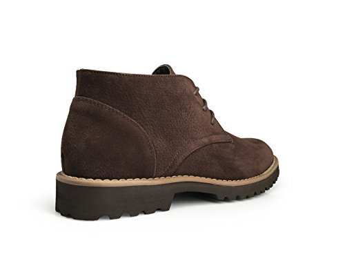Classico Uomo In Pelle Scamosciata Chukka Desert Storm Lace Up Oxford Boots Brown