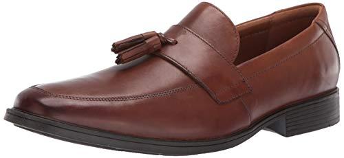 - CLARKS Men's Tilden Stride Loafer, Dark tan Leather, 075 M US