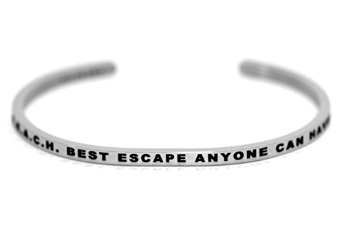 dolceoro-inspirational-cuff-band-beach-best-escape-anyone-can-have-316l-surgical-stainless-steel