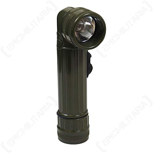 Epic Militaria Olive Angle Head Flashlight