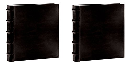 : Pioneer Photo Albums CLB257-BL Leather Bi-Directional Album 5X7 2-UP 200 Photo Black (Black Bundle)