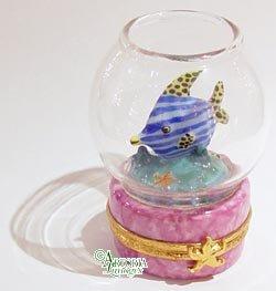- Artoria Limoges Fish Bowl: Pink Base