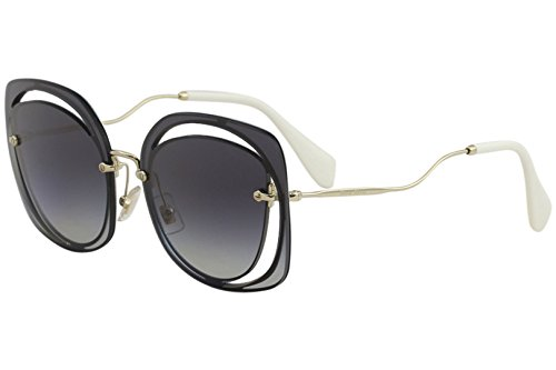 - Miu Miu Women's Cutout Square Sunglasses, Blue/Grey, One Size