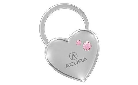Acura Heart Key Chain Swarovski Pink Crystals Keychain Fob