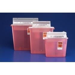 Sharpstar Lid - Kendall Sharpstar Sharps Container With Counterbalanced Lid, 5 Qt., 20/cs by Kendall