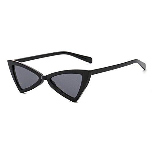 HOME 1 UV Gafas Borde Transparente Vintage Harajuku De De QZ Protección Triangular Moda Color 1 Espejo Estilo Sol fdwfRq
