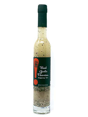 OMG!: Delicious Dipping Oil | As found in Pike Place Market | Perfect for breads, veggies, salads, and marinades. (Basil Garlic Parmesan, 12.7 FL OZ)