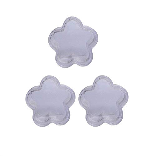 - 12PCS Transparent Empty Plum Blossom Shape Plastic Storage Boxes Cream Beads Buttons Earring Storage Holder Refillable Durable Container Case Pot for Travel Vacation Camping Daily Life