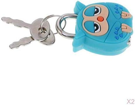joyMerit 2ピース/個かわいい漫画の人形動物ミニ南京錠セキュリティロックキー子供ギフト