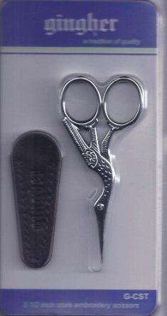 Gingher G-CST 3-1/2 inch Stork Embroidery Scissors (Chrome (Gingher Stork Embroidery Scissors)