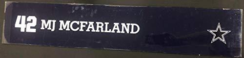 (MJ McFarland Game Used Locker Room Name Nameplate 36