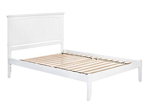 Bed Queen Platform White (Atlantic Furniture AR8241002 Nantucket Platform Bed with Open Foot Board, Queen, White)