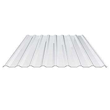 Lichtplatte Polycarbonat  76//18    0,65 mm glasklar einseitig UV beschichtet