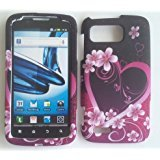 LF 3 in 1 Bundle Accessory - Designer Hard Case Cover, Lf Stylus, Screen Protector Pen for (AT&T) Motorola Atrix 2 Mb865 (Purple Daisy)