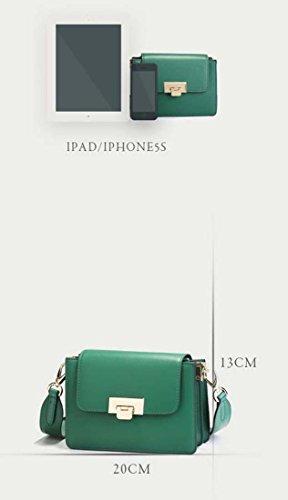 Casual pequeño BY Negro 3 Bolso bandolera para WTING Color Mediano Cuero mujer rojo Hombro Vacuno Marrón 3 Bolso Verde Xx56wO