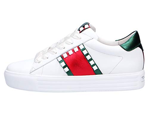 Cordones de para Lisa Kennel Mujer Zapatos de Gr Bianco Rot Piel amp; Schmenger xFwqXpUI