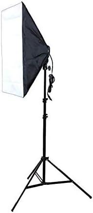 MEETBM ZIMO,Photo Studio Softbox Kit Four Socket Lamp Holder + 50 X 70CM Flash Lighting Softbox +2m Light Stand EU Plug