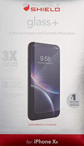 ZAGG InvisibleShield Glass+ Screen Protector - High-Definition Tempered Glass for The Apple iPhone Xr - Impact & Scratch Protection