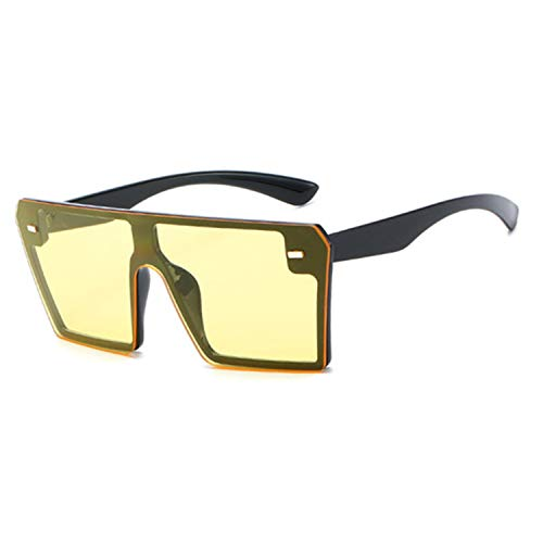Vintage Ovesized Sunglasses Women Shades Rimless Square Sun Glasses For Dames,K32329-C6 Yellow