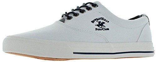 Beverly Heuvels Polo Club Heren Canvas Mode Bootschoenen Sneakers Wit
