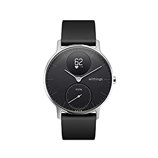 Withings | Steel HR Hybrid Smartwatch - Activity Tracker with Connected GPS, Heart Rate Monitor, Sleep Monitor, Smart Notifications, Water Resistant with 25-Day Battery Life (B071NVR2QQ) | Amazon Products