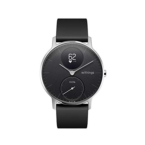 Withings | Steel HR Hybrid Smartwatch - Activity Tracker with Connected GPS, Heart Rate Monitor, Sleep Monitor, Smart Notifications, Water Resistant with 25-Day Battery Life (Best Atta For Health)