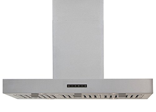 Windster Hood WS-63TB36SS Residential Stainless Steel Island Range Hood Set, 36-Inch