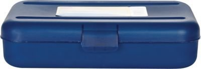 1InTheOffice Pencil Box, Translucent Blue (4 Pack)