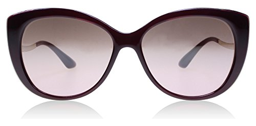 Bvlgari BV8178 11177E Dark Red BV8178 Cats Eyes Sunglasses Lens Category 2 Size by Bulgari
