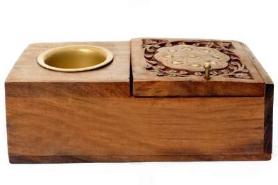 Craft Trade Wooden Ashtray and Cigarette Case